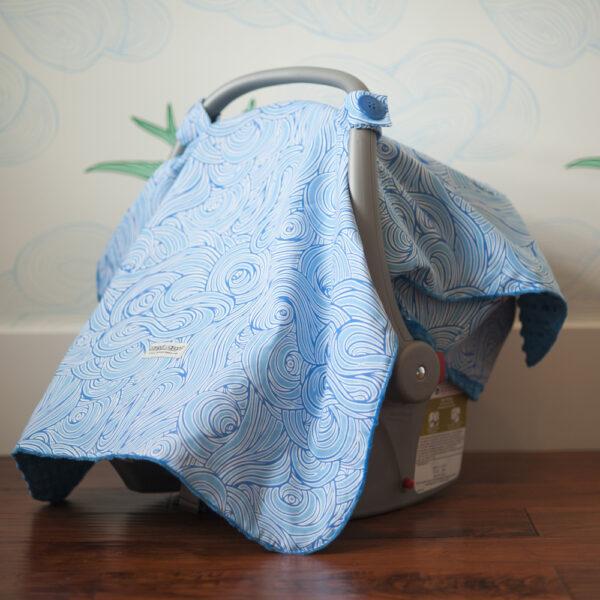 Capota para babysilla – Azul y celeste