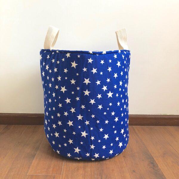 Contenedor estampado grande – Estrellas azul